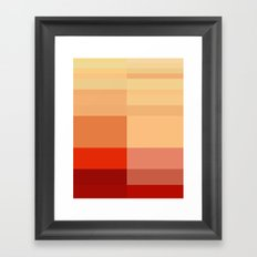 Orange To Red Framed Art Print