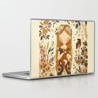 vintage Laptop & iPad Skins featuring The Queen of Pentacles by Teagan White