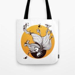 Golden Fish is dancing Tote Bag