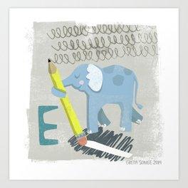 """E"" Art Print"