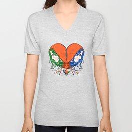 Clementine's Heart Unisex V-Neck
