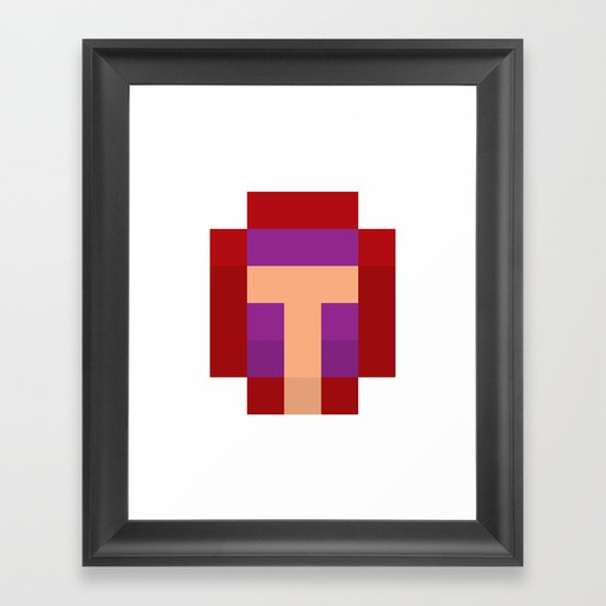 hero pixel purple red Framed Art Print