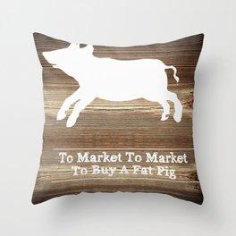 To Market Throw Pillow