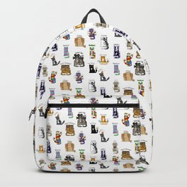 Science cats. History of great discoveries. Schrödinger cat, Tesla, Einstein. Physics, chemistry etc Backpack