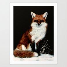 Red Fox painting Art Print