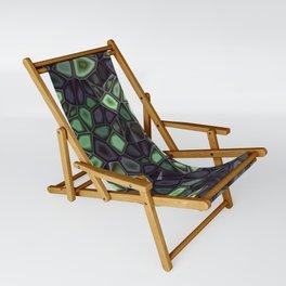 Fractal Gems 04 - Emerald Dreams Sling Chair