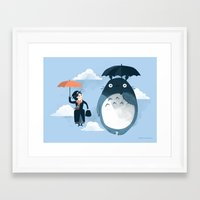 kids Framed Art Prints featuring The Perfect Neighbor by Anna-Maria Jung
