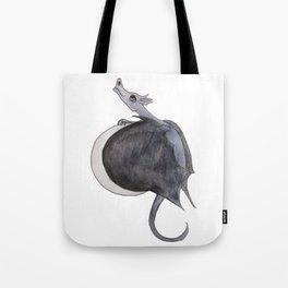 Luna Violetta the Moon Dragon Tote Bag