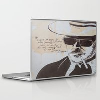 hunter s thompson Laptop & iPad Skins featuring Hunter S. Thompson by Emily Storvold