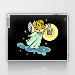 Flying angel with lantern Laptop & iPad Skin