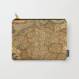 Old map of Germany 1570 Carry-All Pouch