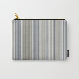 Blue grey Tan Stripes Carry-All Pouch