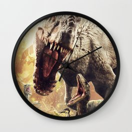 T-rex Movie Wall Clock