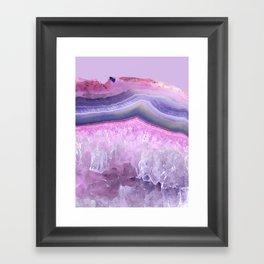 Ultraviolet and Pink Agate Framed Art Print