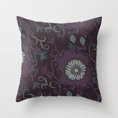 Purple branches Throw Pillow