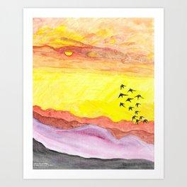 Nature's Canvas Art Print
