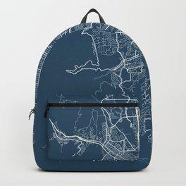 Colorado Springs Blueprint Street Map, Colorado Springs Colour Map Prints Backpack