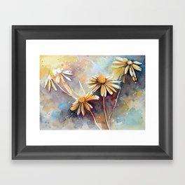 Purple Dream Garden, watercolor explorations Framed Art Print