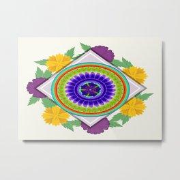 Mandala Floral Motif 01 Metal Print