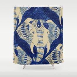 Elephant Doodle #1 Shower Curtain