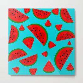 Watermelon Pattern Metal Print