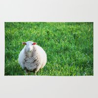 sheep Area & Throw Rugs featuring Sheep by L'Accent Nou by Anastasia Egorova