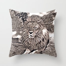 Rustic Style - Lion Throw Pillow