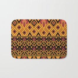 Yellow plaid. The creative pattern . Bath Mat