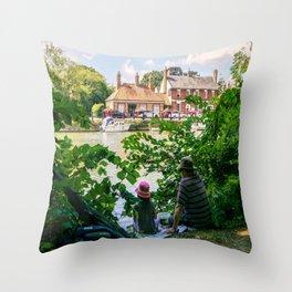 Gone fishing. Throw Pillow