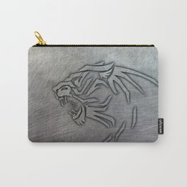 Bigcat Tribal on Metal Carry-All Pouch