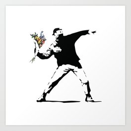 Banksy Flower Thrower Art Print