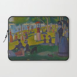 A Sunday Afternoon on the Island of La Grande Jatte Painting by Georges Seurat Pointillism Laptop Sleeve