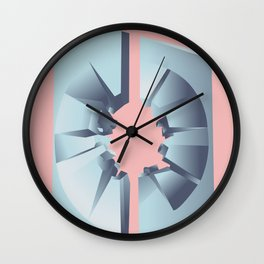 Futuristic Monuments Of Old Yugoslavia Wall Clock