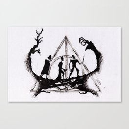The Three Brothers Inktober Drawing Canvas Print