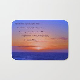 """""""Moonstone Beach Moment"""" with poem: And Counting Bath Mat"""