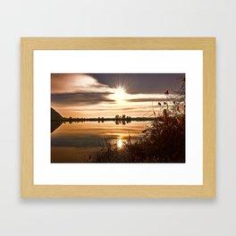 winter reflection on landscape lake Framed Art Print