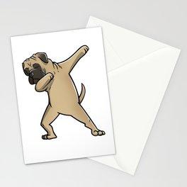 Funny Dabbing Bullmastiff Dog Dab Dance Stationery Cards