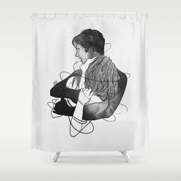 Surrounded with your deepness. Shower Curtain