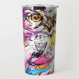 Neon Northern Pygmy Owl Travel Mug