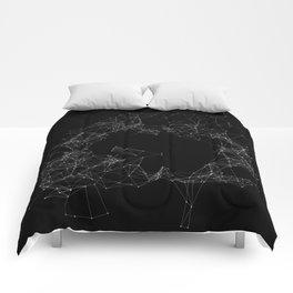 Artificial Constellation Plain Comforters