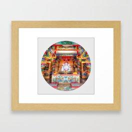 Chinese Shrine #3 (Circle) Framed Art Print