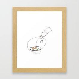 Chilli Chicken Framed Art Print