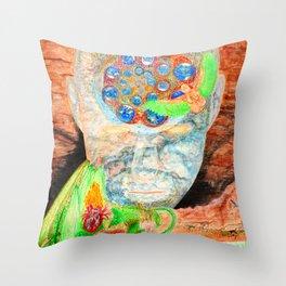 Awareness Evolving Throw Pillow