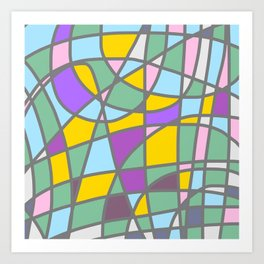 Stain Glass Abstract Meditation Easter Painting Art Print