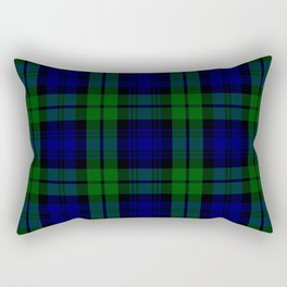 Scottish Campbell Tartan Pattern-Black Watch #1 Rectangular Pillow