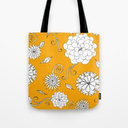 Sunny Crazy Daisy pattern Tote Bag