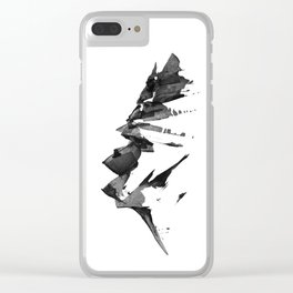 Mountain Painting   Landscape   Black and White Minimalism   By Magda Opoka Clear iPhone Case