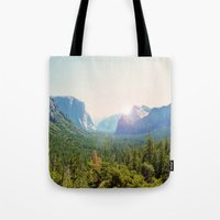 yosemite Tote Bags featuring Yosemite by Chelem