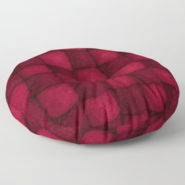 The world of wool - red and wine Floor Pillow