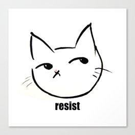 Resist kitty Canvas Print